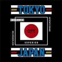 immagine tokyo, design tipografia giappone per t-shirt