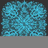Spitzendeckchenmuster. Mit abstrakten Blumen der Elemente. Kann für Design und Dekoration verwendet werden.