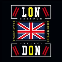 london city typography design for t shirt
