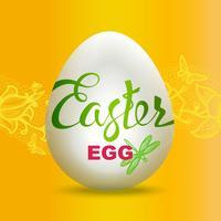Segno dell'uovo di Pasqua su fondo giallo.