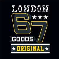 T-shirt di design tipografia originale London Goods per t-shirt