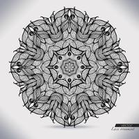 Círculo abstracto patrón de cinta de encaje. El encaje para la decoración.
