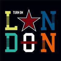 london turn on design graphic typography