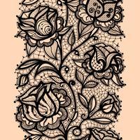 Schablonenrahmendesign für Karte. Spitzendeckchen.