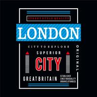 Grafische Typografie des London-Designs
