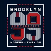 modern brooklyn typography design  for t shirt