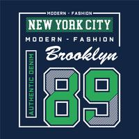 mode moderne tee shirt de conception de typographie brooklyn pour t-shirt