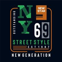 nouveau tee-shirt design typographie street style