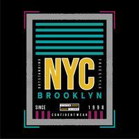 nueva camiseta de tipografía gráfica de Brooklyn de Brooklyn