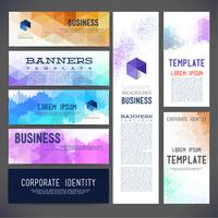 Banners vector template brochure, element, page, leaflet, with colorful geometric triangular, dots