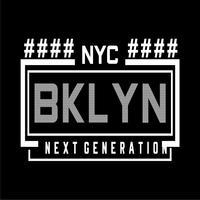 T do design da tipografia de New York Brooklyn