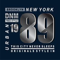 T-shirt di design di tipografia stile New York
