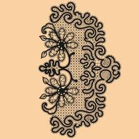 Abstractie floral kantpatroon. Sjabloon frame ontwerp voor kaart. Lace kleedje