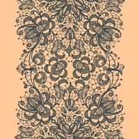 Abstract Lace Ribbon Vertical Seamless Pattern.