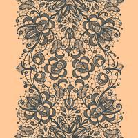 Modèle sans couture verticale de ruban de dentelle abstraite.