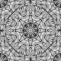 Ornamento circular sin fisuras, patrón de encaje de la cinta.