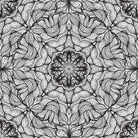 Seamless circular ornament, lace ribbon pattern.