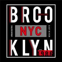 Design vector tipografia brooklyn para t-shirt