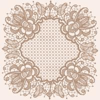 Abstract lace ribbon  pattern with elements flowers. Template frame design for card. Lace Doily.