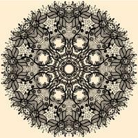 Cinta de encaje de círculo abstracto de vector