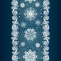 Abstract lace image. Winter pattern with snowflakes
