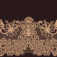 Abstract Lace Ribbon Seamless Pattern.