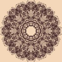 Nastro di pizzo cerchio astratto vettoriale