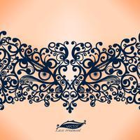 Échantillon de carnaval, le masque de Venise, création de cadre pour le modèle féminin pour carte