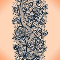 Teste padrão sem emenda da fita abstrata do laço com flores dos elementos. Modelo de design de moldura para o cartão. Doily do laço.