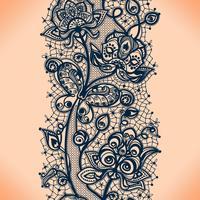 Teste padrão sem emenda da fita abstrata do laço com flores dos elementos. Modelo de design de moldura para o cartão.