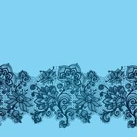 Abstract lace ribbon seamless flowers pattern.