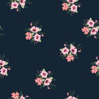 Bloemen abstract naadloos patroon. Vectorontwerp voor verschillende surfases.