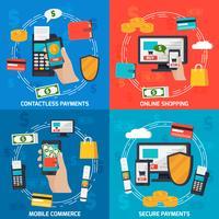conceito de design de pagamentos de moblie