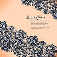 Abstract lacy pattern of the elements flowers.Vector background.