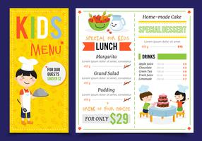 Kinderrestaurant Menu Design