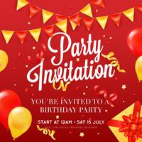 Party invitation Festive Colorful Poster