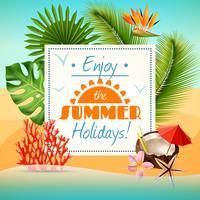 Cartaz de festa de verão vetor