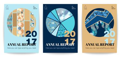 Conjunto de cartazes gráficos circulares