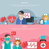 Banners planos de medicina