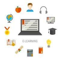 Elearning Flat Composition
