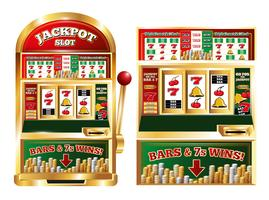 Gambling Slot Machine Composition vector