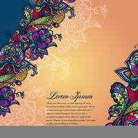 Abstract color lacy pattern of the elements of flowers and butterflies. Vector colorful background.