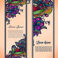 Abstract color lace ribbon seamless pattern with elements flowers.