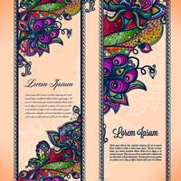 Abstract het lint naadloos patroon van het kleurenkant met elementenbloemen.