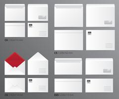 mail envelopes postal set vetor