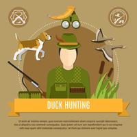 Concepto de caza del pato