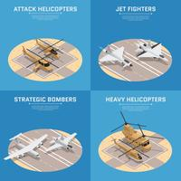 Isometric Air Force Icon Set