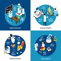 Robots isometrisch ontwerpconcept