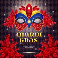 Mardi Gras Party Bright Poster