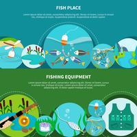 fiskeutrustning banners samling